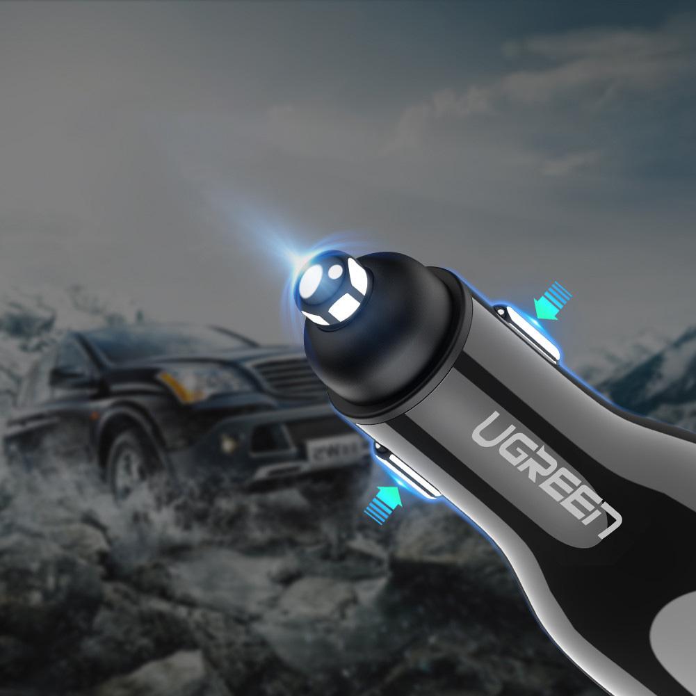 SmartZone.bg Зарядно за кола UGREEN Dual USB QC3.0