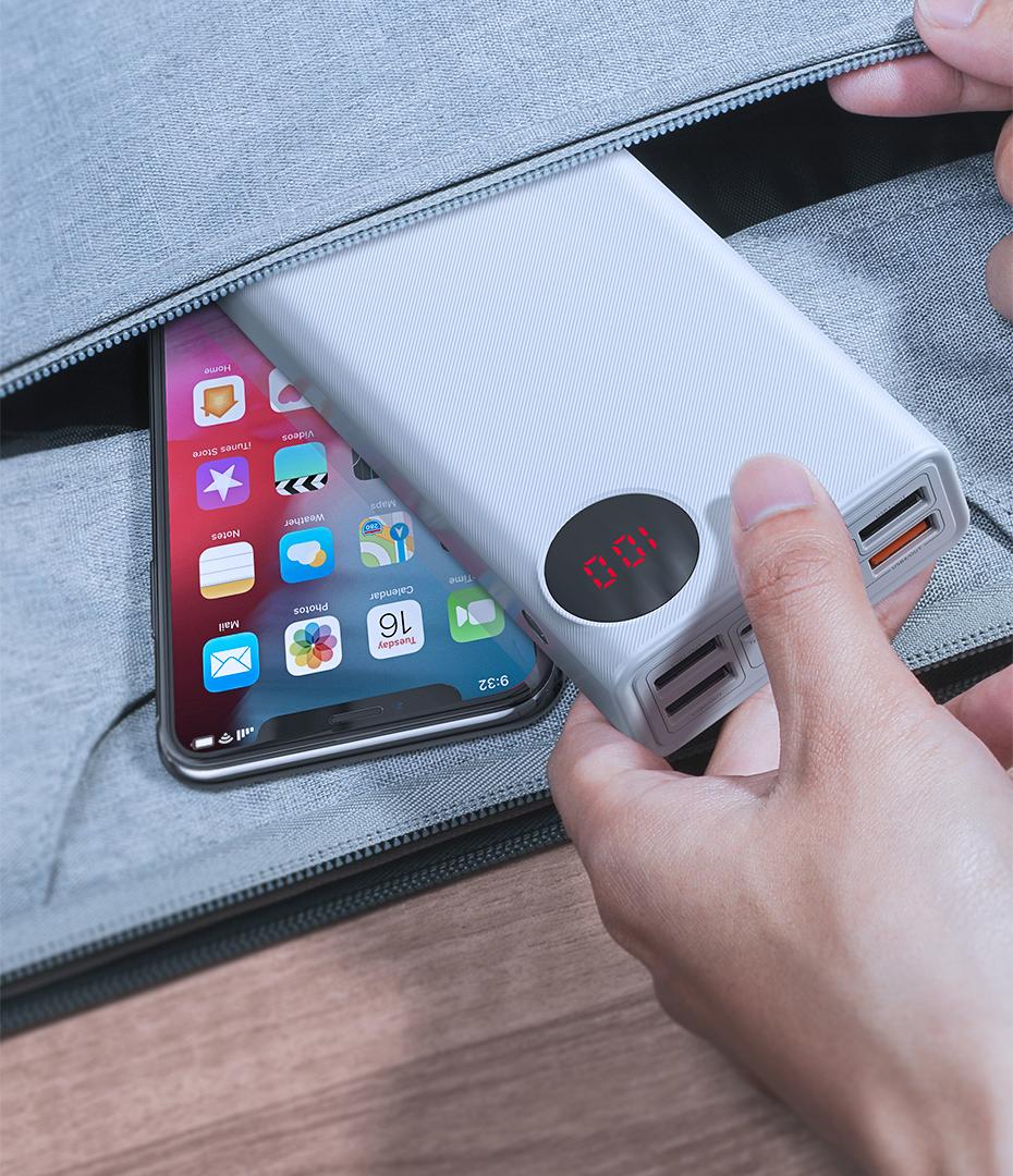 SmartZone.bg Външна батерия 33W Baseus Mulight 30 000mAh