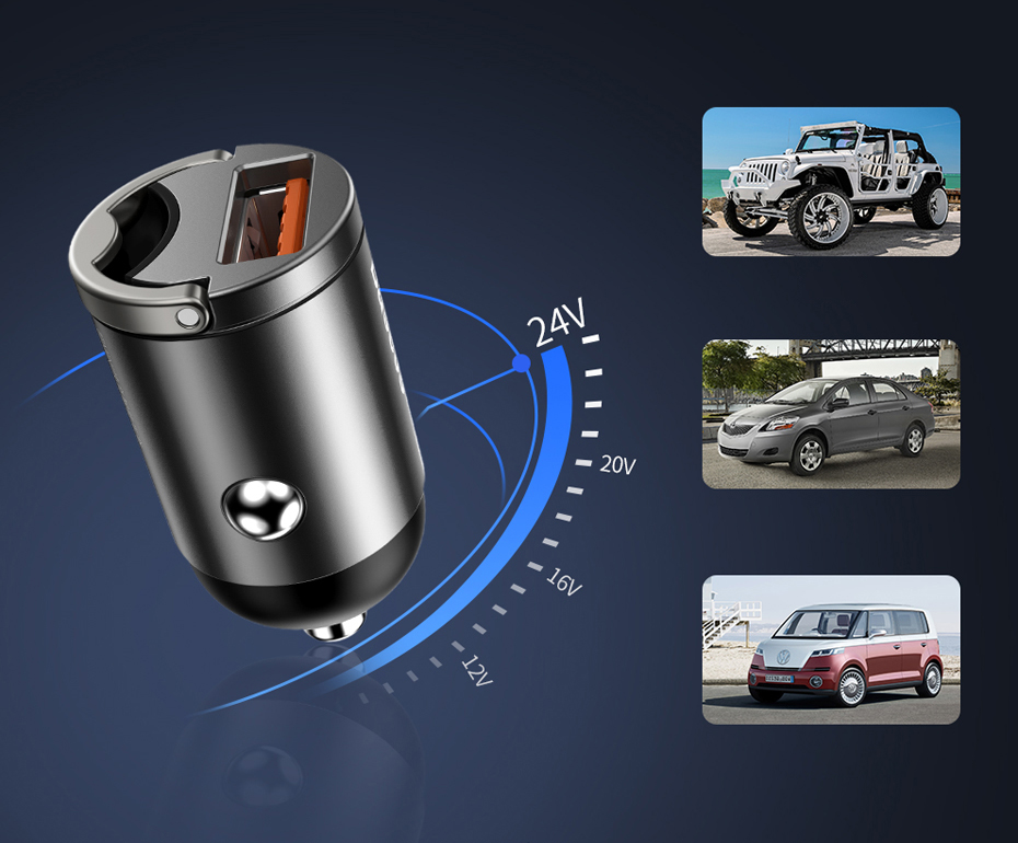 SmartZone.bg Зарядно за кола Type-C порт 30W Baseus Tiny Star