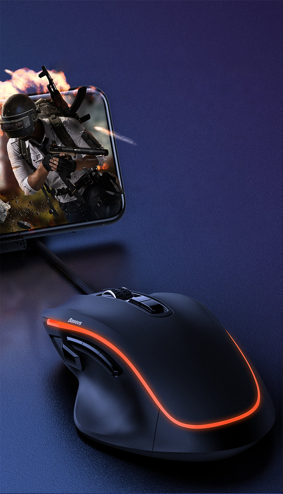 SmartZone.bg Гейминг мишка Baseus GAMO 9 с програмируеми бутони