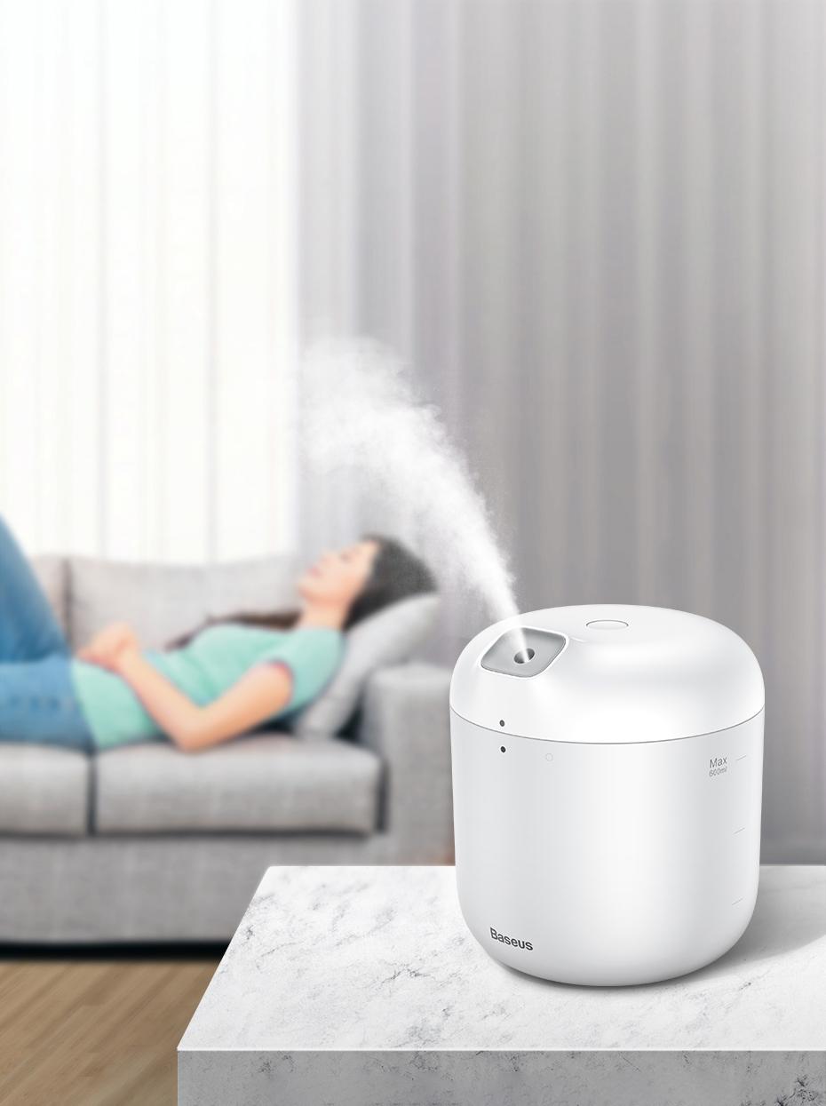 SmartZone.bg Овлажнител + нощна лампа Baseus Elephant - бяло