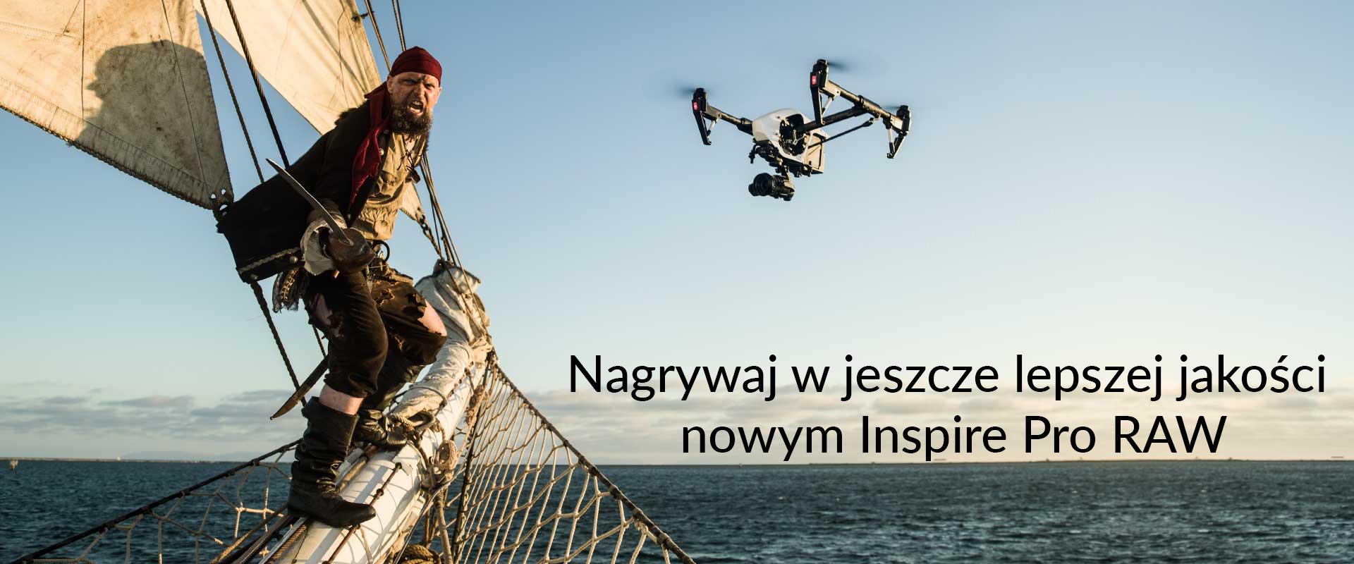 drony dji inspire pro raw