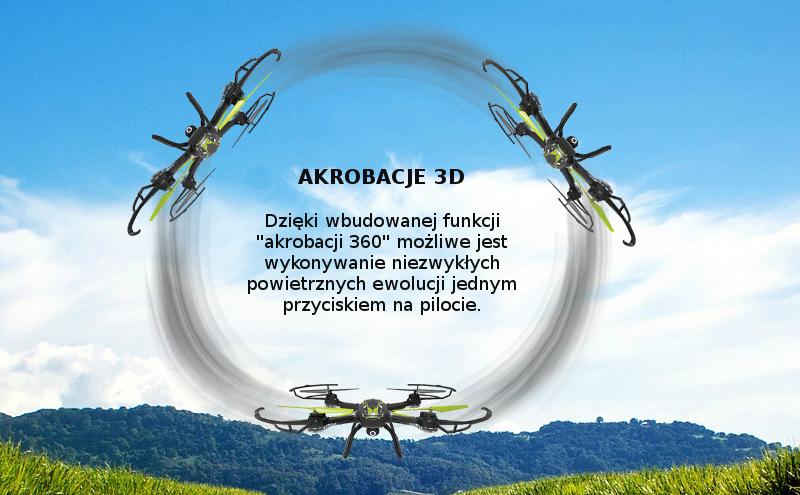 dron syma i akrobacje