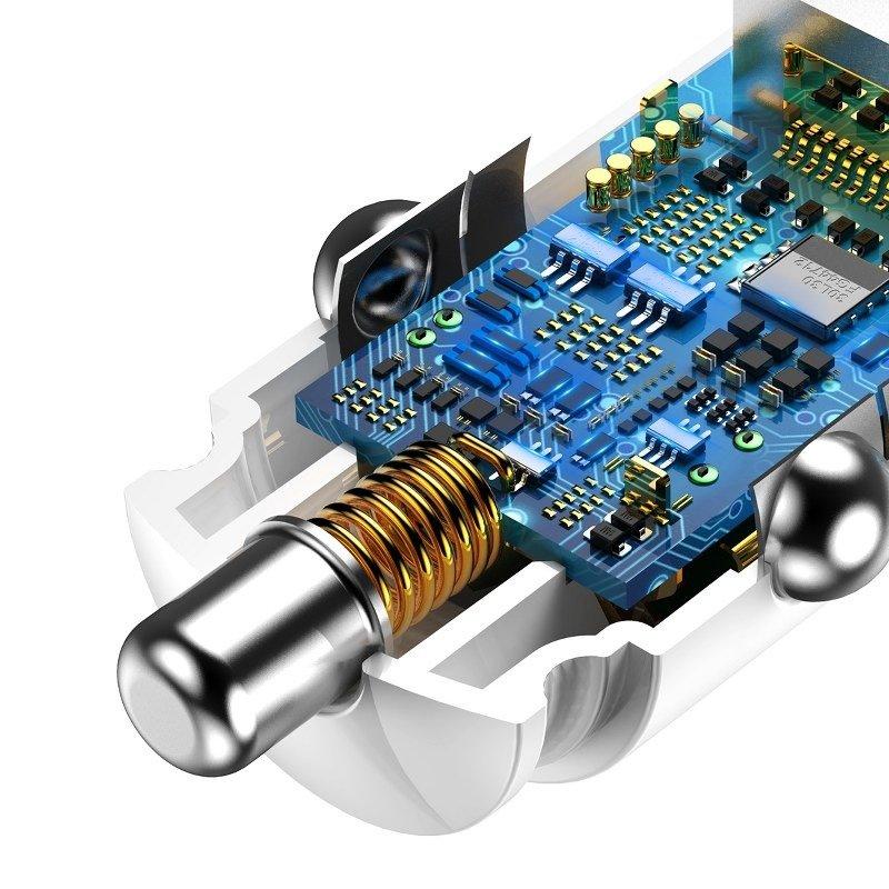 Baseus Szybka ładowarka samochodowa 2xUSB QC3.0 6A